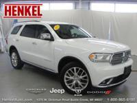 Options:  2015 Dodge Durango Citadel Awd|Bright White