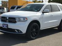 Clean CARFAX. Bright White Clearcoat 2015 Dodge Durango