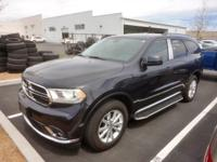 Clean CARFAX. Blue 2015 Dodge Durango SXT AWD 8-Speed