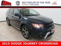 CARFAX One-Owner. Blue 2015 Dodge Journey Crossroad FWD
