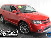 Recent Arrival! 2015 Dodge Journey in Red, AUX