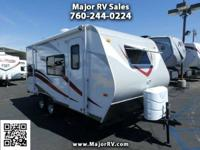 2015 Eclipse RV Milan 18 CKGLS Trip Trailer Front Sofa