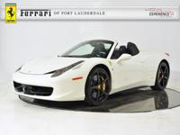 2015 Ferrari 458 Spider - FERRARI APPROVED - CERTIFIED