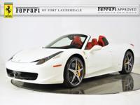 2013 Ferrari 458 Spider - FERRARI APPROVED - CERTIFIED
