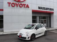 White 2015 Fiat 500 Abarth FWD 6-Speed Aisin F21-250 HD