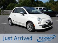 CARFAX One-Owner. Clean CARFAX. White 2015 Fiat 500
