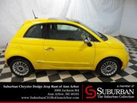 * This 2015 Fiat 500 Lounge... Features include: 4-Cyl,