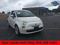 2015 Fiat 500 Pop in Bianco Perla (Pearl White