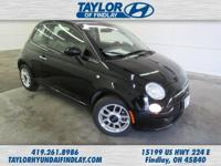 2015 Black Fiat 500 Pop    One Owner!, Spotless