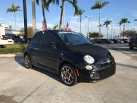 2015 Fiat 500 Sport in Black. Don't let the miles fool