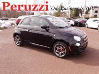CARFAX One-Owner. Clean CARFAX. Black 2015 Fiat 500