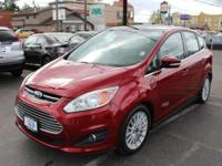New Price! Ford C-Max Energi Red I4 Hybrid. Recent
