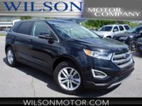 CARFAX One-Owner. Black 2015 Ford Edge SEL AWD 6-Speed