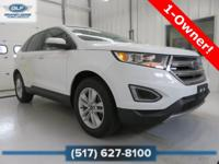 2015 Ford Edge SEL in Oxford White Vehicle Highlights