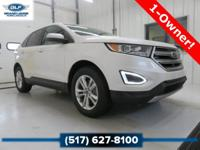 2015 Ford Edge SEL in White Platinum Metallic Tri-Coat
