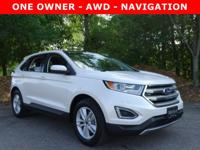 CARFAX One-Owner. Clean CARFAX. White 2015 Ford Edge