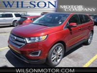 CARFAX One-Owner. Clean CARFAX. Red 2015 Ford Edge