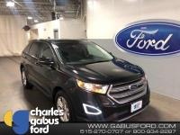 Certified. 2015 Ford Edge SEL Tuxedo Black Metallic ONE