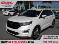 Options:  2015 Ford Edge Sport|White|**One Owner**