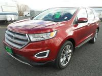 This 2015 Ford Edge is a CARFAX CERTIFIED vehicle with