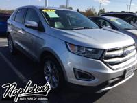 Recent Arrival! 2015 Ford Edge in Silver, AUX
