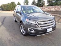 Our One Owner 2015 Ford Edge Titanium AWD in Gray
