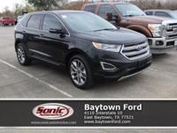 Cruising in this 2015 Ford Edge Titanium is better than