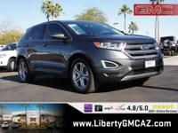 Gray 2015 Ford Edge Titanium FWD 6-Speed Automatic