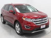 Options:  2015 Ford Edge Titanium|Ruby Red Metallic