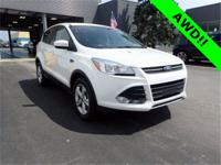 White Platinum Metallic Tri-Coat 2015 Ford Escape SE