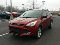 CARFAX One-Owner. Red 2015 Ford Escape SE AWD 6-Speed