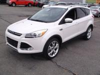 White 2015 Ford Escape 4D Sport Utility Titanium AWD