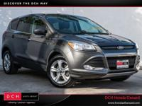 CARFAX One-Owner. Gray 2015 Ford Escape SE FWD 6-Speed