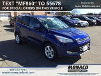 CARFAX One-Owner. Blue 2015 Ford Escape SE AWD 6-Speed