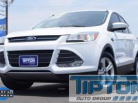 2015 Ford Escape in Oxford White exterior and Medium