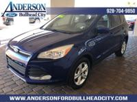 Blue 2015 Ford Escape SE FWD 6-Speed Automatic EcoBoost