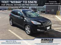 CARFAX One-Owner. Black 2015 Ford Escape Titanium AWD