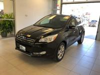 One-Owner. Black 2015 Ford Escape Titanium AWD 6-Speed