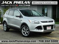 Silver 2015 Ford Escape Titanium FWD 6-Speed Automatic