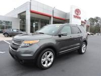Clean CARFAX. Gray 2015 Ford Explorer Limited AWD