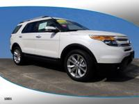 New Price! This 2015 Ford Explorer Limited in White