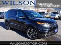 CARFAX One-Owner. Black 2015 Ford Explorer Sport AWD