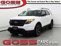 White 2015 Ford Explorer Sport, AWD, 6-Speed Automatic
