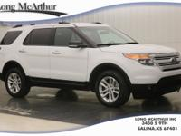 White 2015 Ford Explorer XLT AWD 6-Speed Automatic with