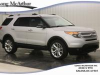 Silver 2015 Ford Explorer XLT AWD 6-Speed Automatic