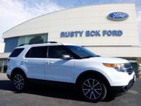 White 2015 Ford Explorer XLT FWD 6-Speed Automatic with