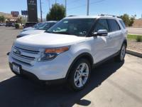 Clean CARFAX. White 2015 Ford Explorer Limited 4D Sport