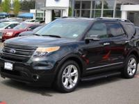 Clean CARFAX. Black 2015 Ford Explorer Limited AWD