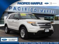 * Ford certified 2015 ford explorer xlt 4wd in white