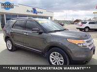 CARFAX One-Owner. Clean CARFAX. Gray 2015 Ford Explorer